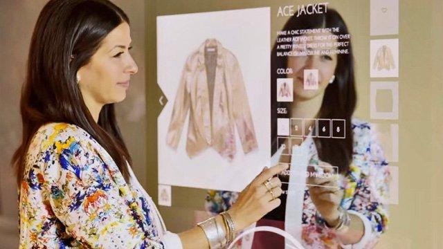 "Rebecca Minkoff has fitting rooms with ""smart mirrors"""