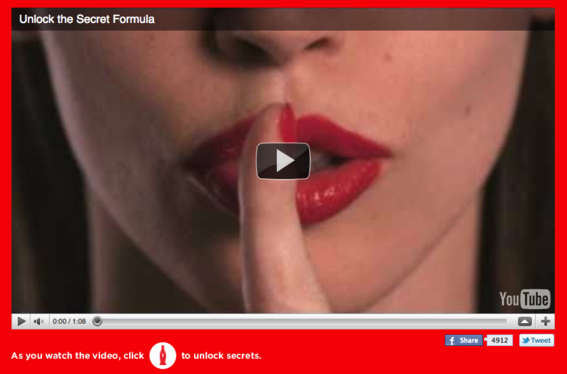 Coca Cola using youtube video on website