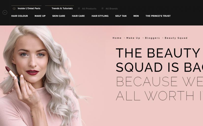 L'Oreal's Beauty Squad initiative