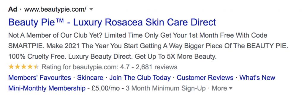 paid search advert description