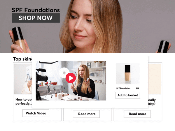 Dynamically match shoppers to content