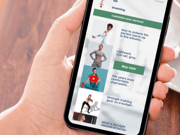 Dynamic & shoppable mobile app